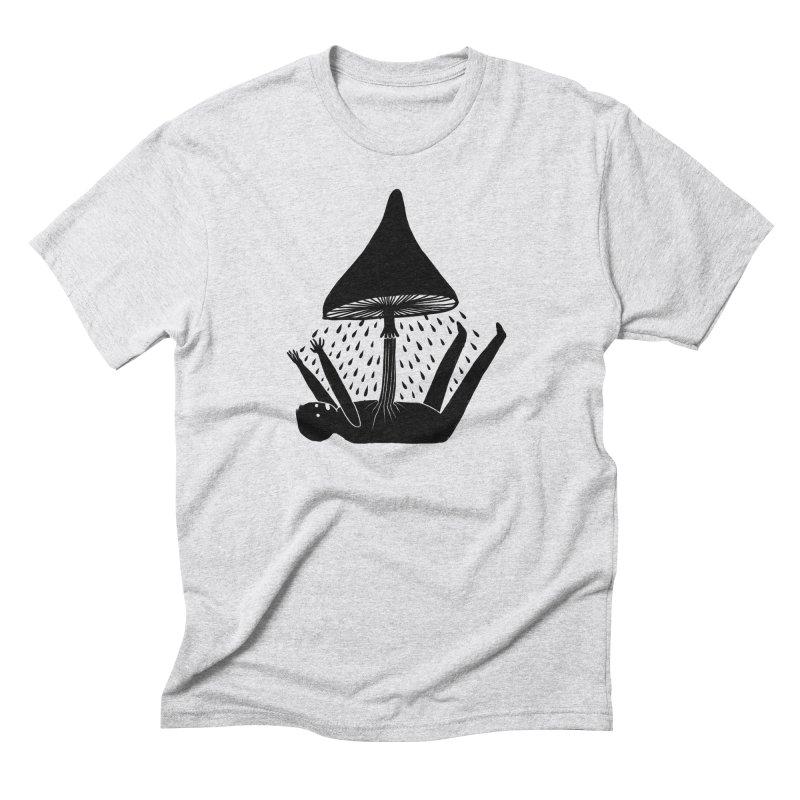 I N T R U S I V E • T H O U G H T S in Men's Triblend T-Shirt Heather White by S L E E P Y ∙ D O L P H I N