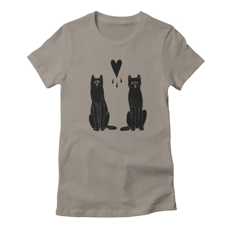B R O T H E R S in Women's Fitted T-Shirt Warm Grey by S L E E P Y ∙ D O L P H I N