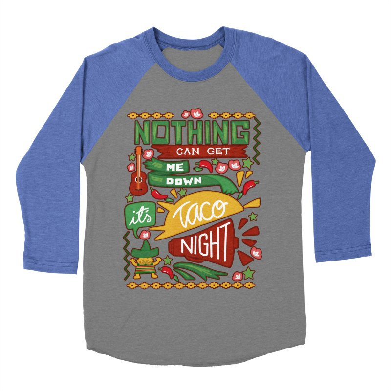 Taco Night Men's Baseball Triblend T-Shirt by Slogantees
