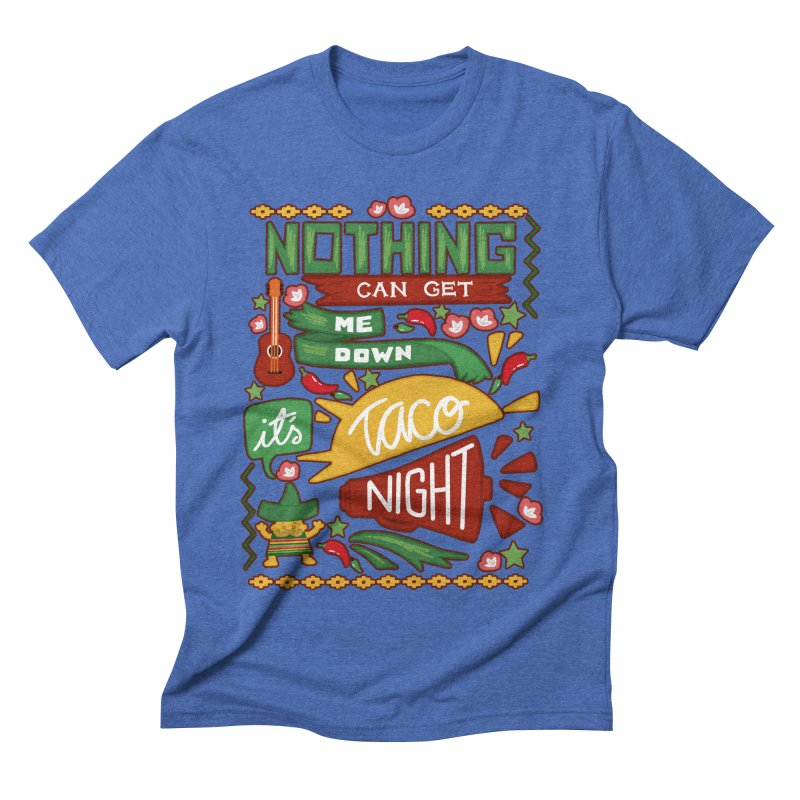 Taco Night Men's Triblend T-shirt by Slogantees