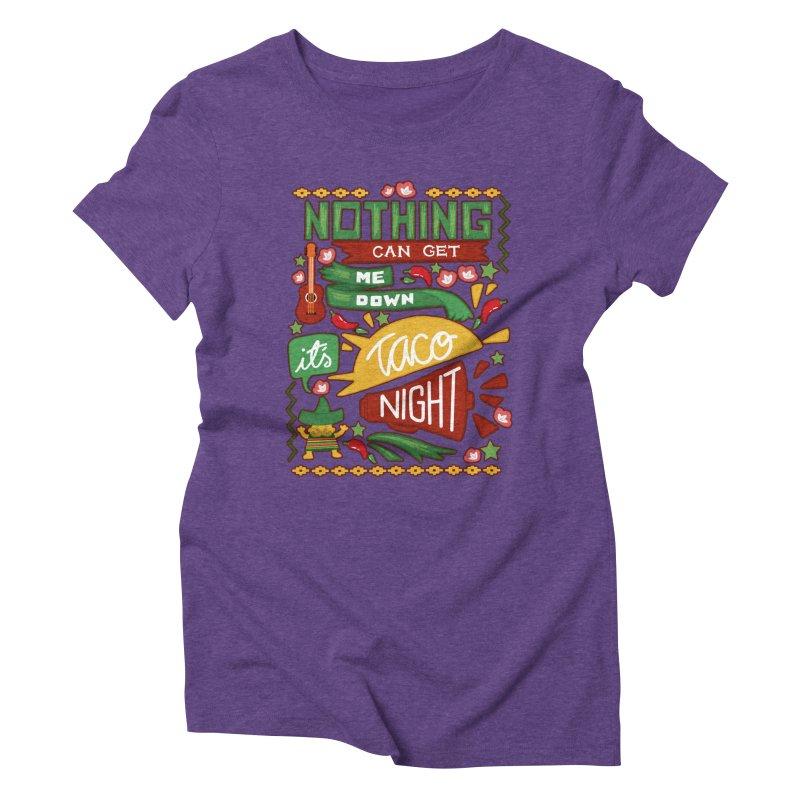 Taco Night Women's Triblend T-shirt by Slogantees