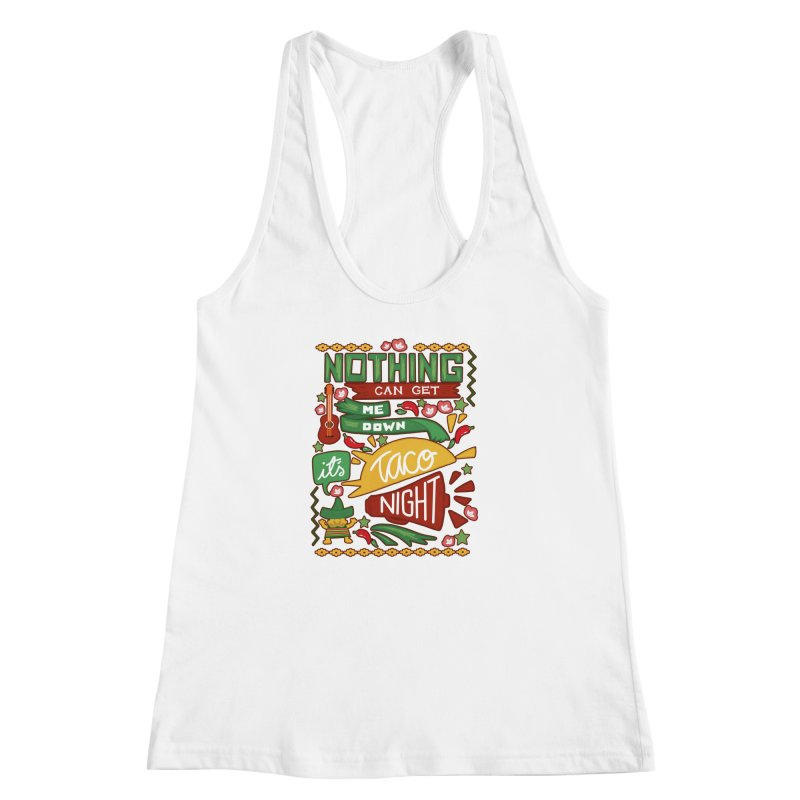 Taco Night Women's Racerback Tank by Slogantees