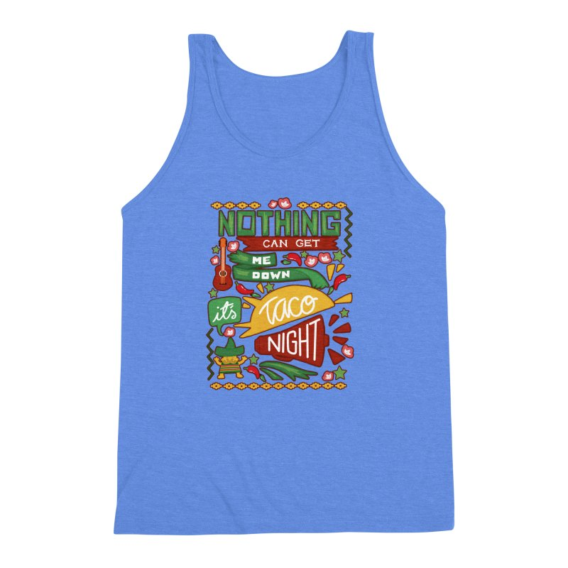 Taco Night Men's Triblend Tank by Slogantees