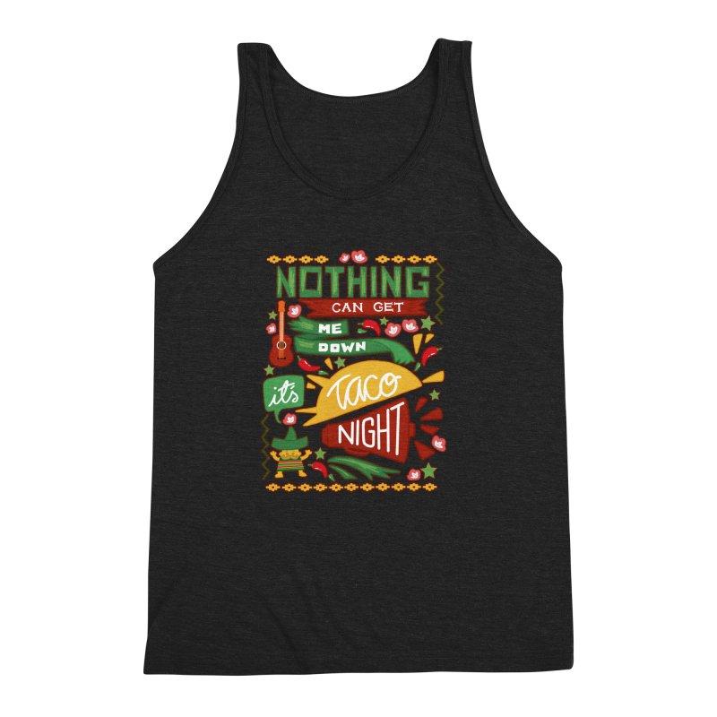 Taco Night Men's Triblend Tank by Slogantees