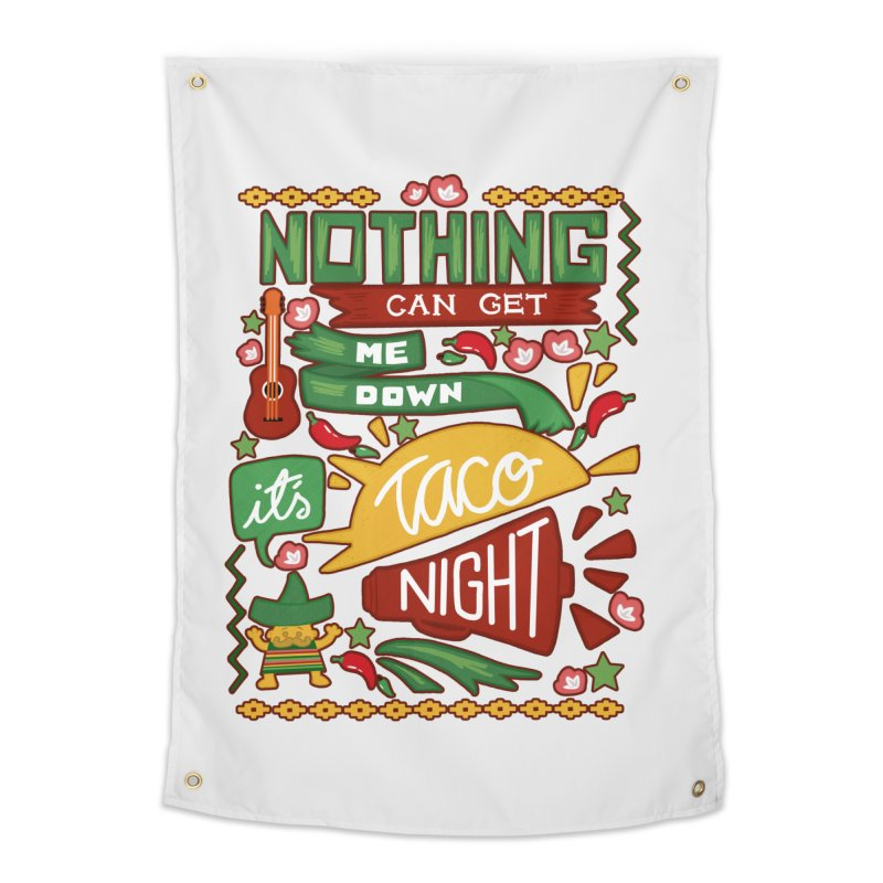 Taco Night Home Tapestry by Slogantees