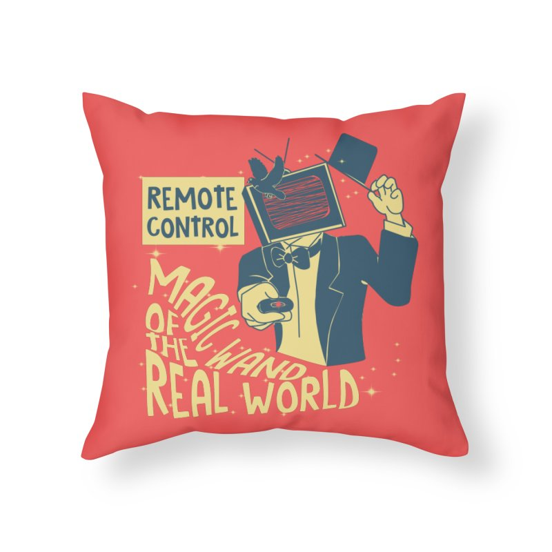 Magic Wand Home Throw Pillow by Slogantees