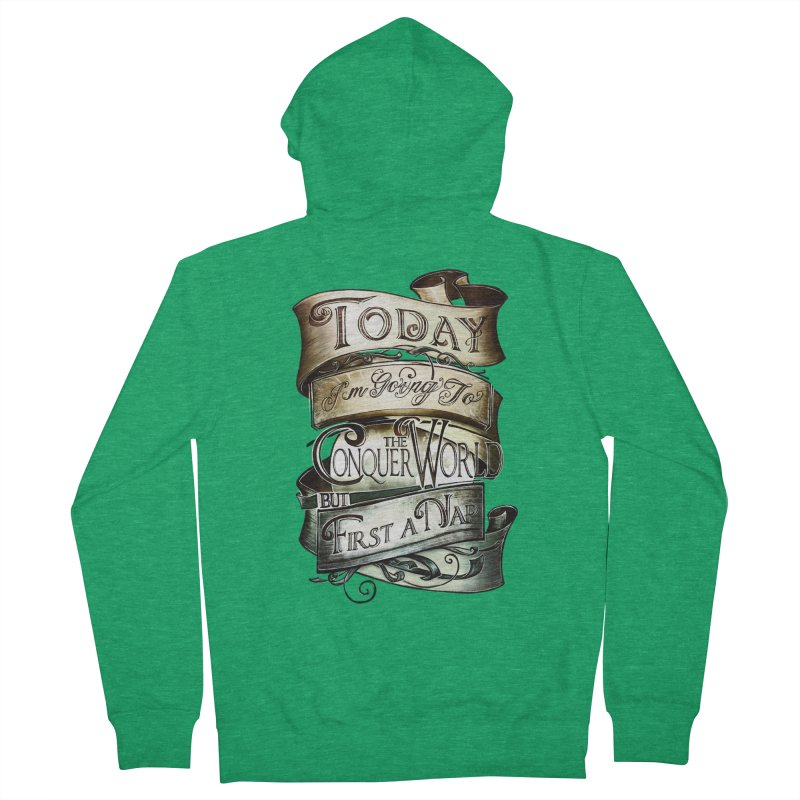 Today the World Women's Zip-Up Hoody by Slogantees