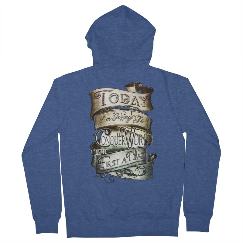 Today the World Men's Zip-Up Hoody by Slogantees