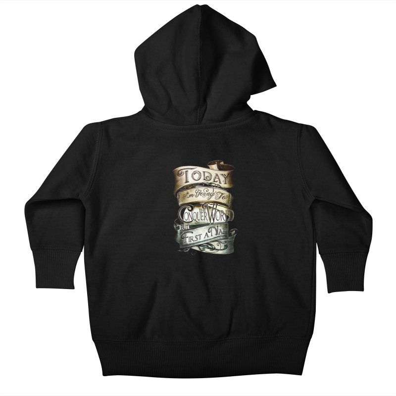 Today the World Kids Baby Zip-Up Hoody by Slogantees
