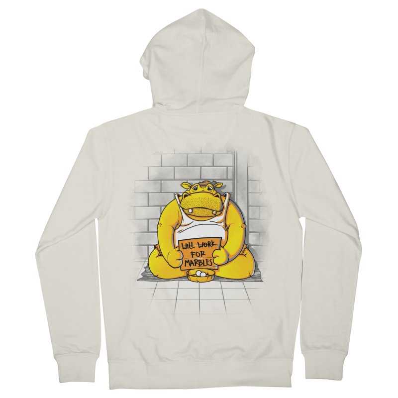 Hungry Hungry Hobo Men's Zip-Up Hoody by Slogantees