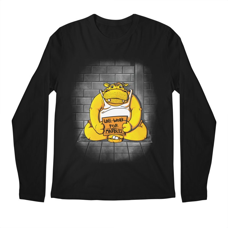 Hungry Hungry Hobo Men's Longsleeve T-Shirt by Slogantees
