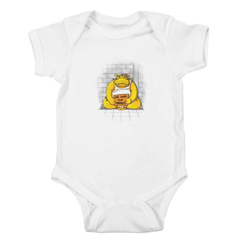 Hungry Hungry Hobo Kids Baby Bodysuit by Slogantees
