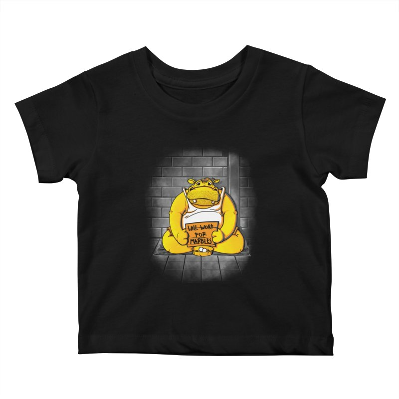 Hungry Hungry Hobo Kids Baby T-Shirt by Slogantees