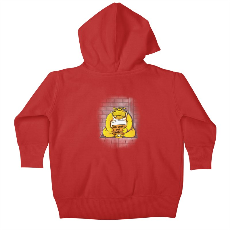 Hungry Hungry Hobo Kids Baby Zip-Up Hoody by Slogantees