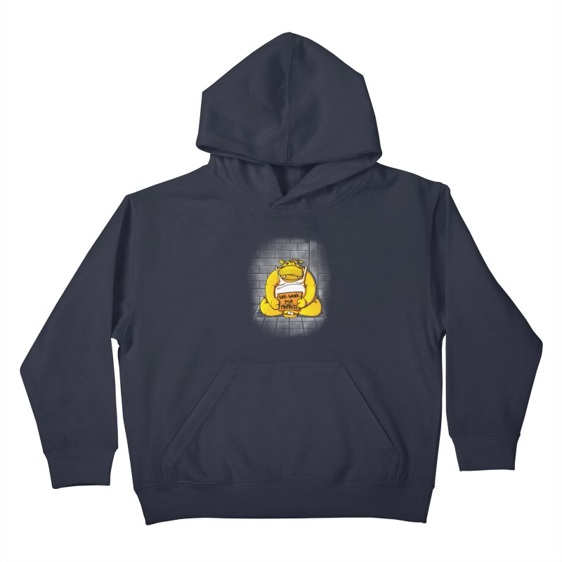 Hungry Hungry Hobo Kids Pullover Hoody by Slogantees