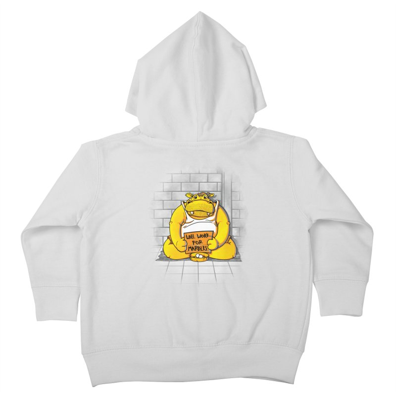Hungry Hungry Hobo Kids Toddler Zip-Up Hoody by Slogantees