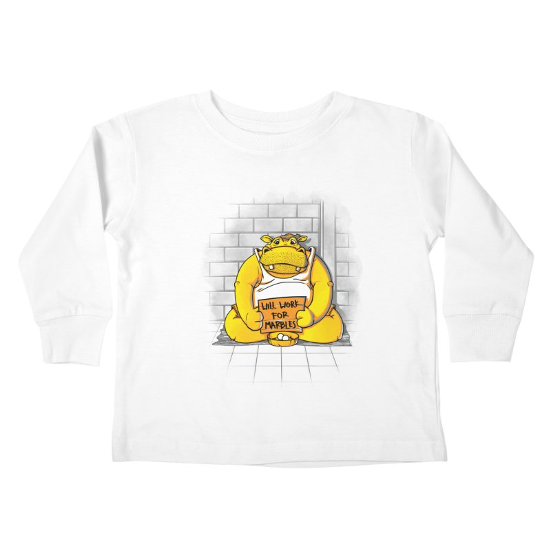 Hungry Hungry Hobo Kids Toddler Longsleeve T-Shirt by Slogantees