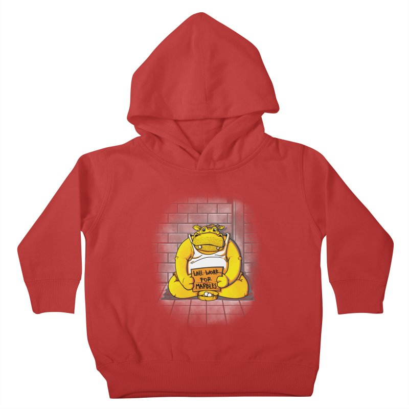 Hungry Hungry Hobo Kids Toddler Pullover Hoody by Slogantees