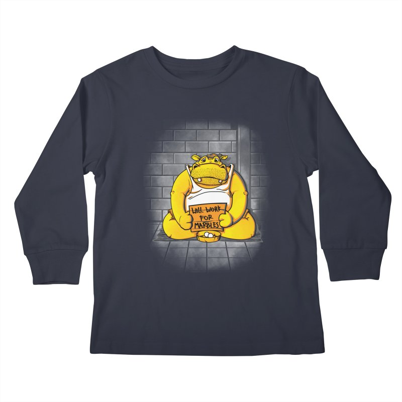 Hungry Hungry Hobo Kids Longsleeve T-Shirt by Slogantees