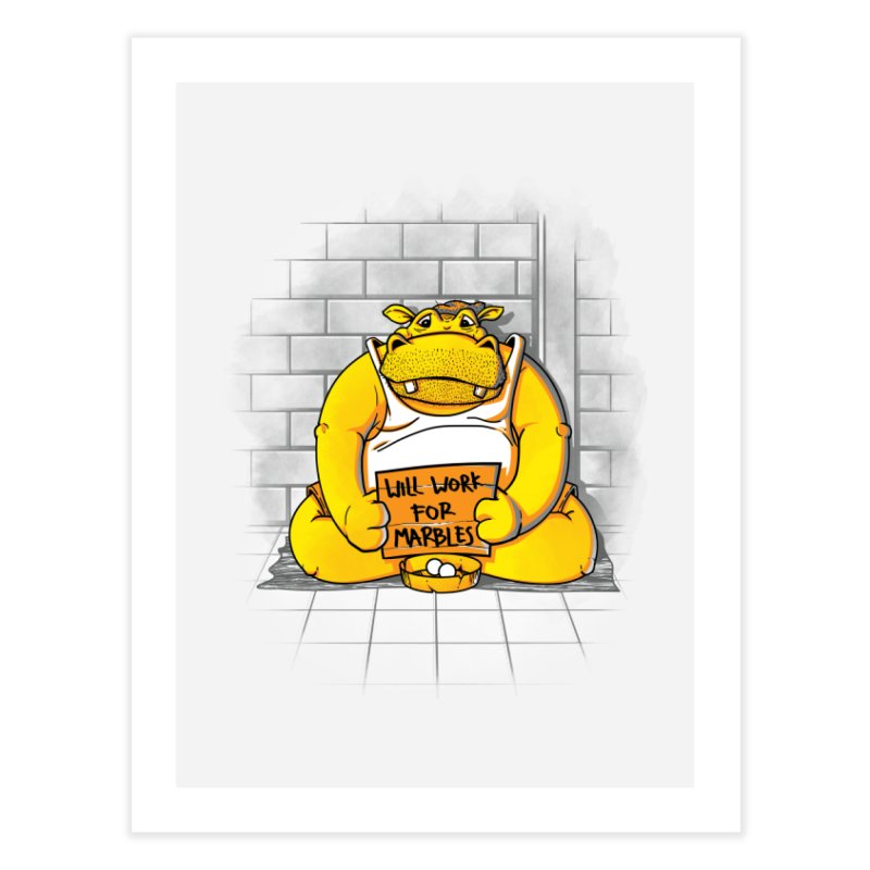 Hungry Hungry Hobo Home Fine Art Print by Slogantees