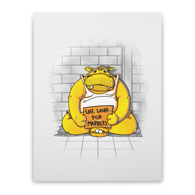 Hungry Hungry Hobo Home Stretched Canvas by Slogantees
