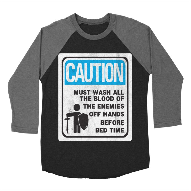 Wash Your Hands Women's Baseball Triblend T-Shirt by Slogantees