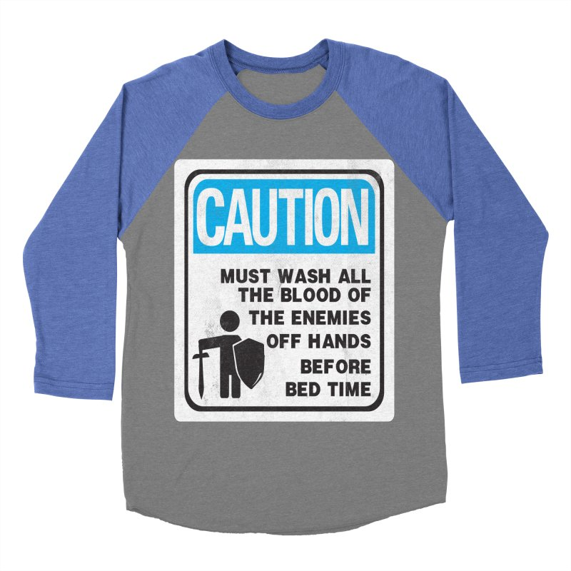 Wash Your Hands Men's Baseball Triblend T-Shirt by Slogantees