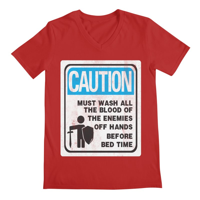 Wash Your Hands Men's V-Neck by Slogantees