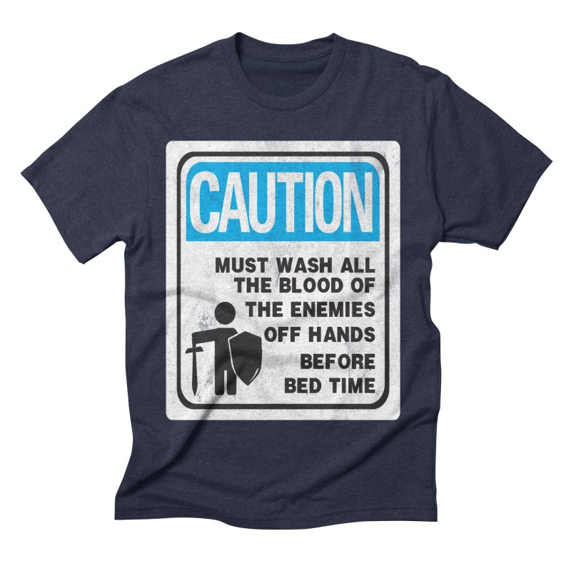 Wash Your Hands Men's Triblend T-shirt by Slogantees
