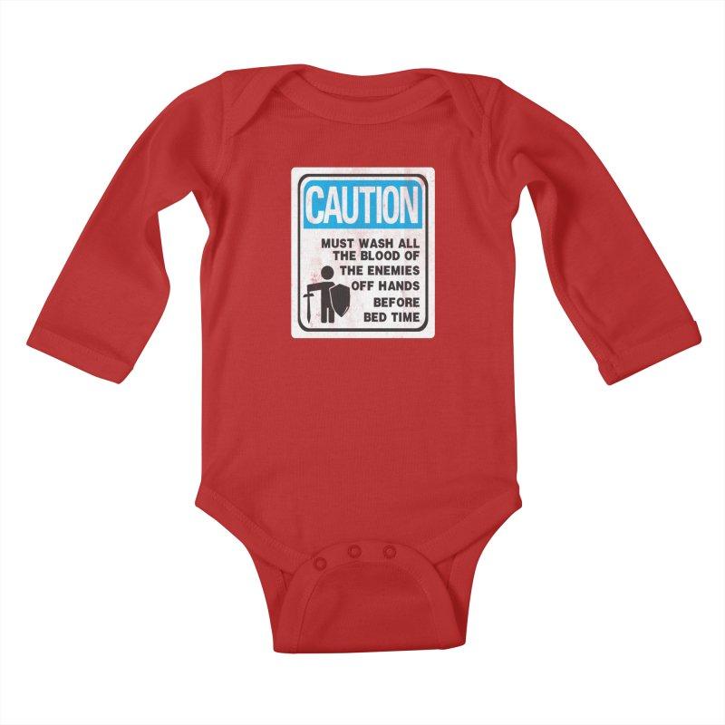 Wash Your Hands Kids Baby Longsleeve Bodysuit by Slogantees