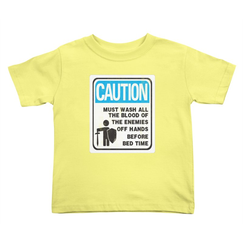 Wash Your Hands Kids Toddler T-Shirt by Slogantees