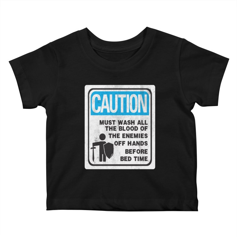 Wash Your Hands Kids Baby T-Shirt by Slogantees