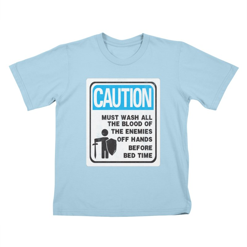 Wash Your Hands Kids T-Shirt by Slogantees