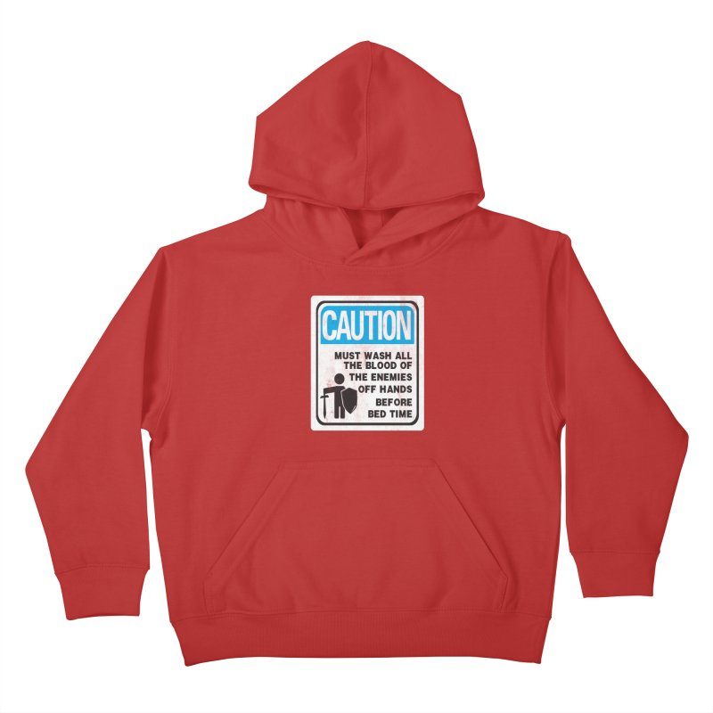Wash Your Hands Kids Pullover Hoody by Slogantees
