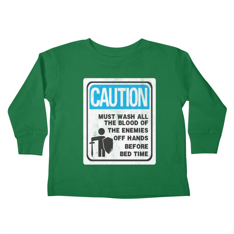Wash Your Hands Kids Toddler Longsleeve T-Shirt by Slogantees