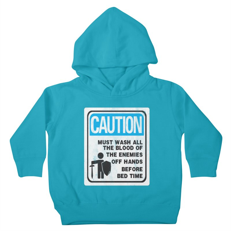Wash Your Hands Kids Toddler Pullover Hoody by Slogantees