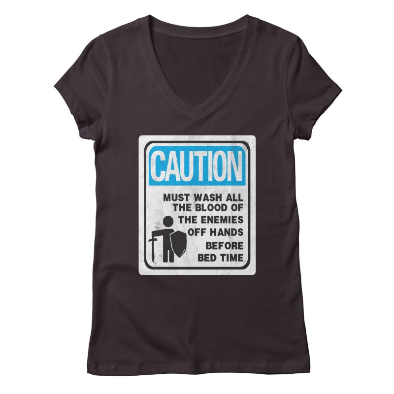 Wash Your Hands Women's V-Neck by Slogantees