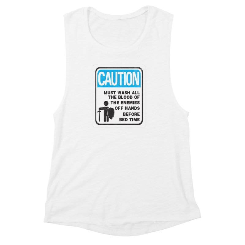 Wash Your Hands Women's Muscle Tank by Slogantees