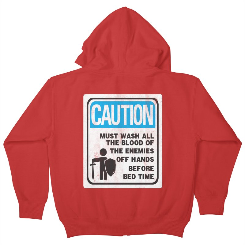 Wash Your Hands Kids Zip-Up Hoody by Slogantees