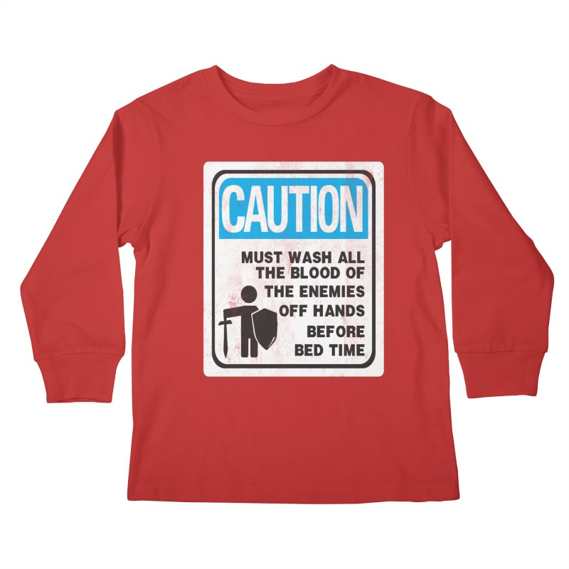 Wash Your Hands Kids Longsleeve T-Shirt by Slogantees