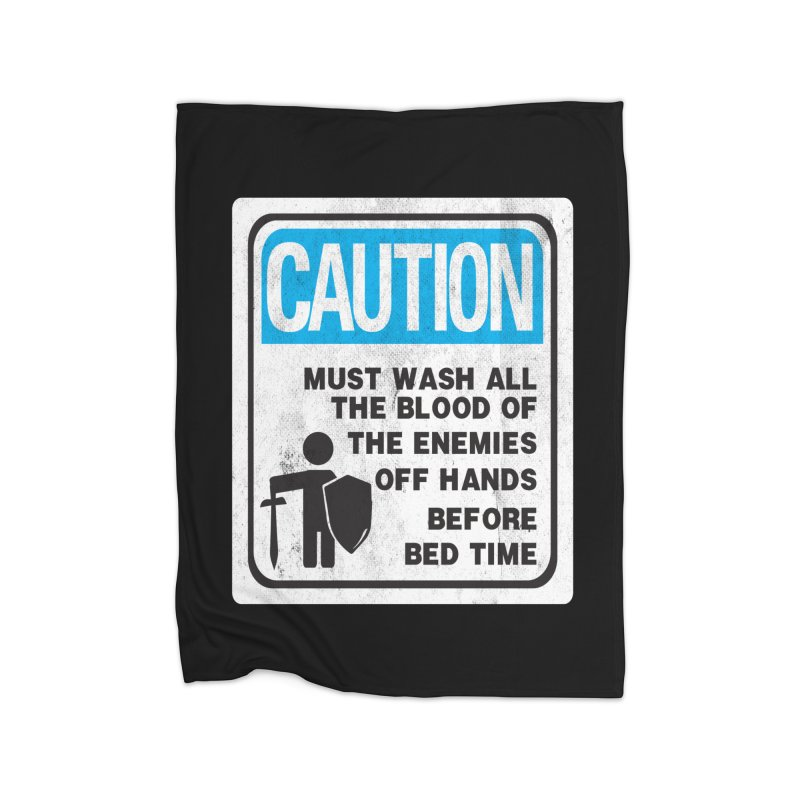Wash Your Hands Home Fleece Blanket by Slogantees