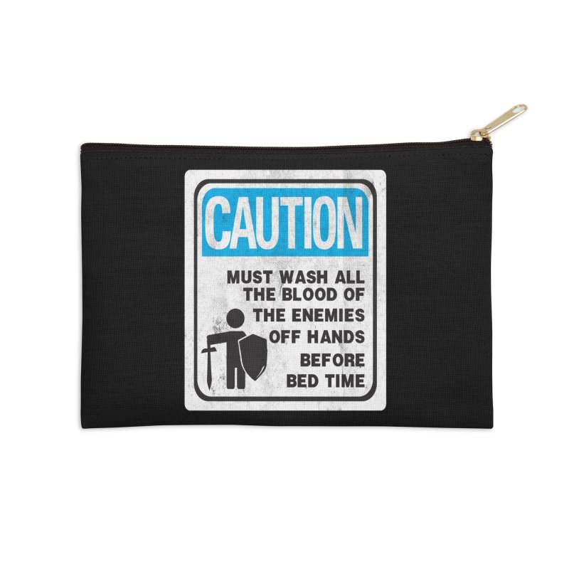 Wash Your Hands Accessories Zip Pouch by Slogantees