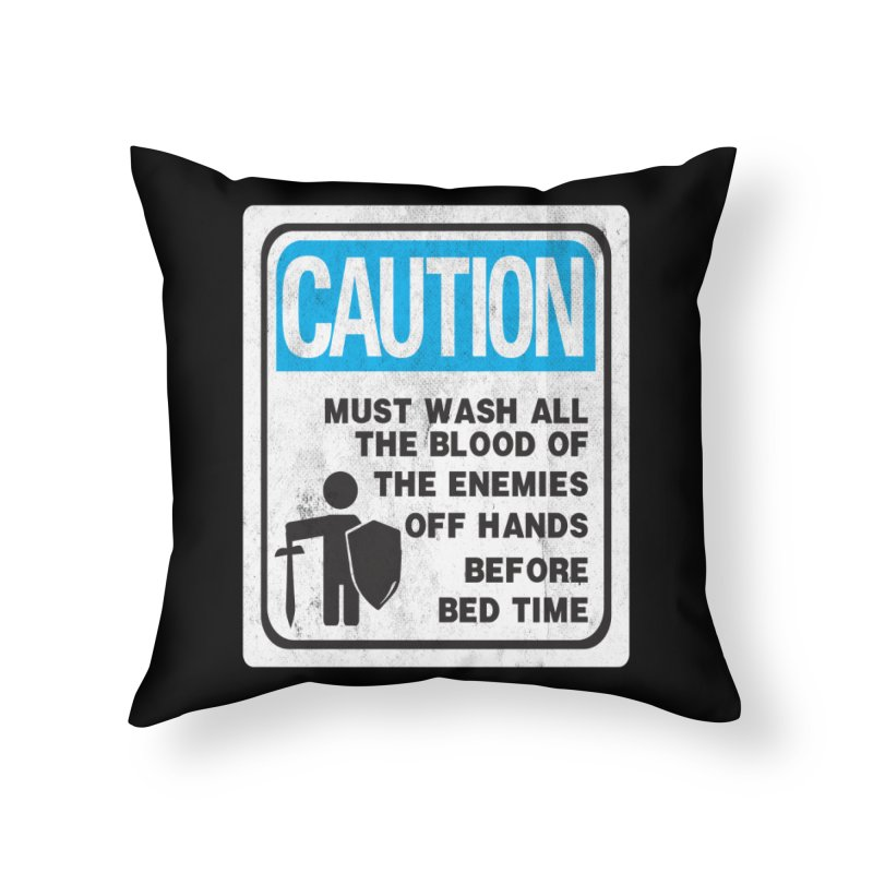 Wash Your Hands Home Throw Pillow by Slogantees