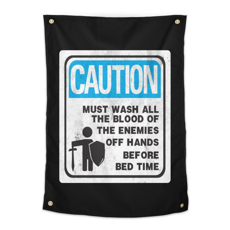 Wash Your Hands Home Tapestry by Slogantees