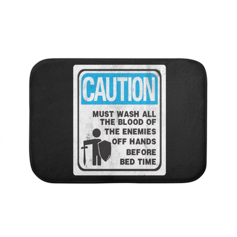 Wash Your Hands Home Bath Mat by Slogantees