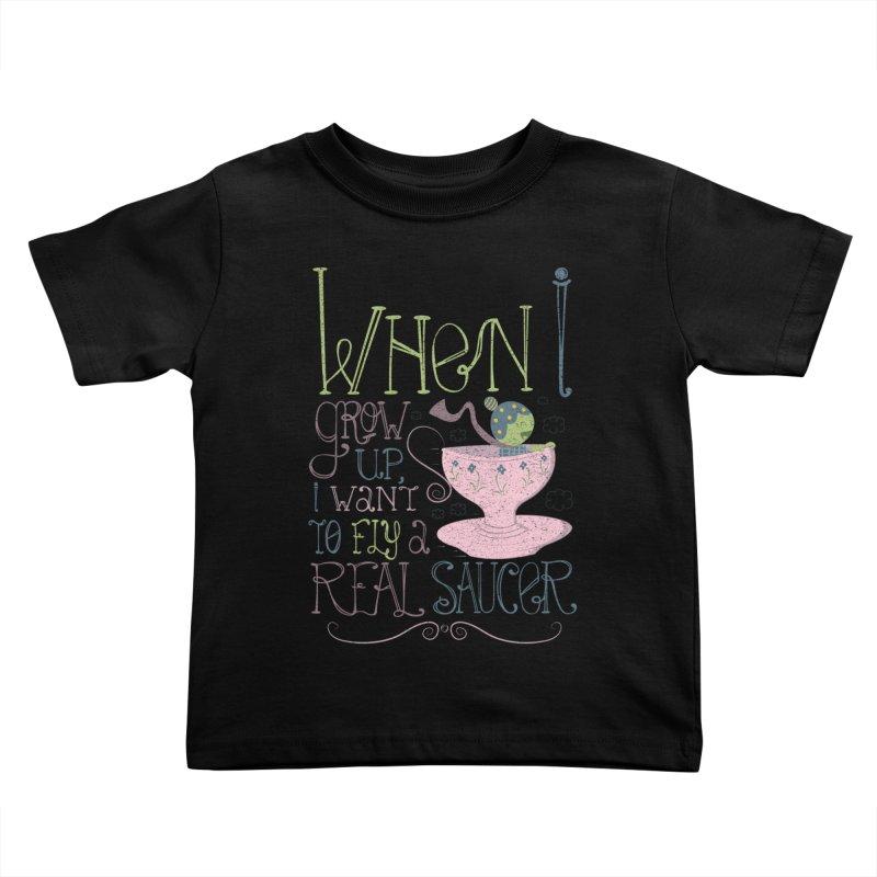 Flying Saucer Kids Toddler T-Shirt by Slogantees