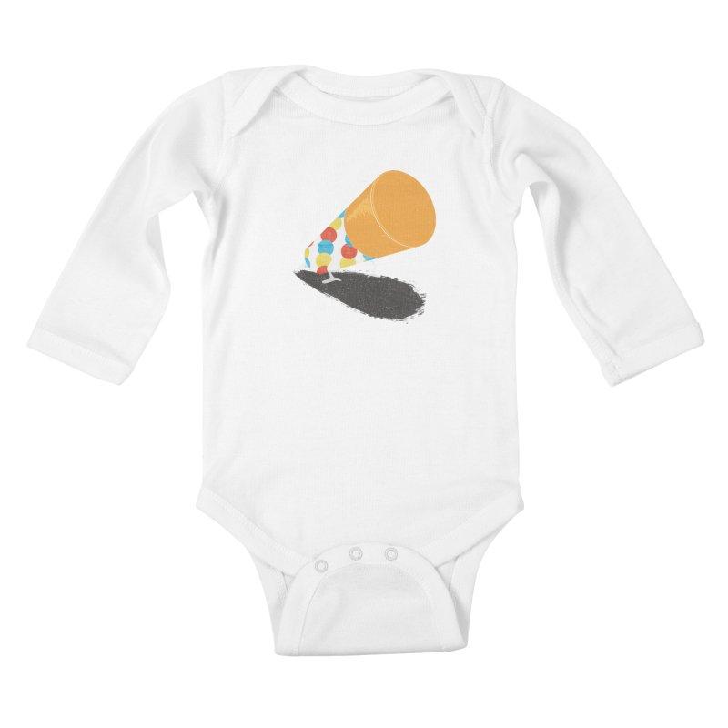 Push Up Kids Baby Longsleeve Bodysuit by Slogantees