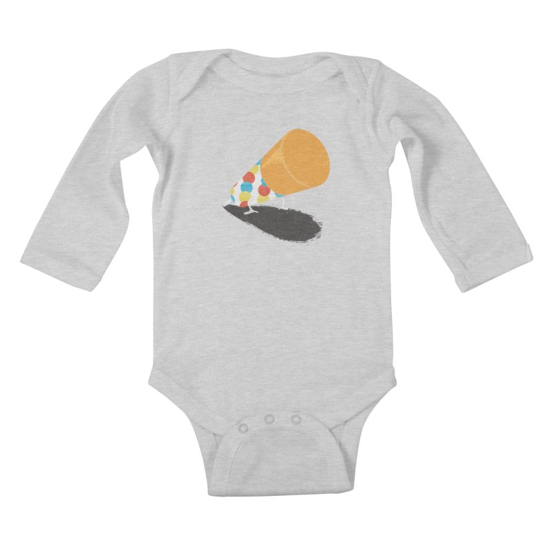 Push Up Kids Baby Longsleeve Bodysuit by Slogantees