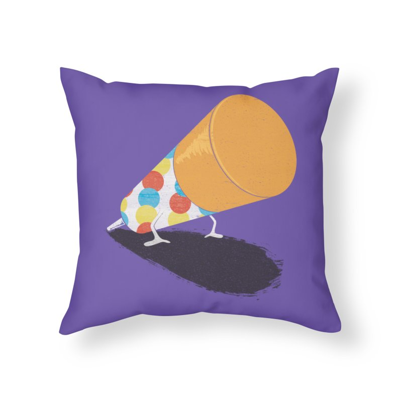 Push Up Home Throw Pillow by Slogantees