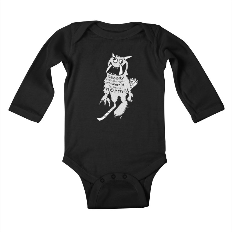 Change the World Kids Baby Longsleeve Bodysuit by Slogantees